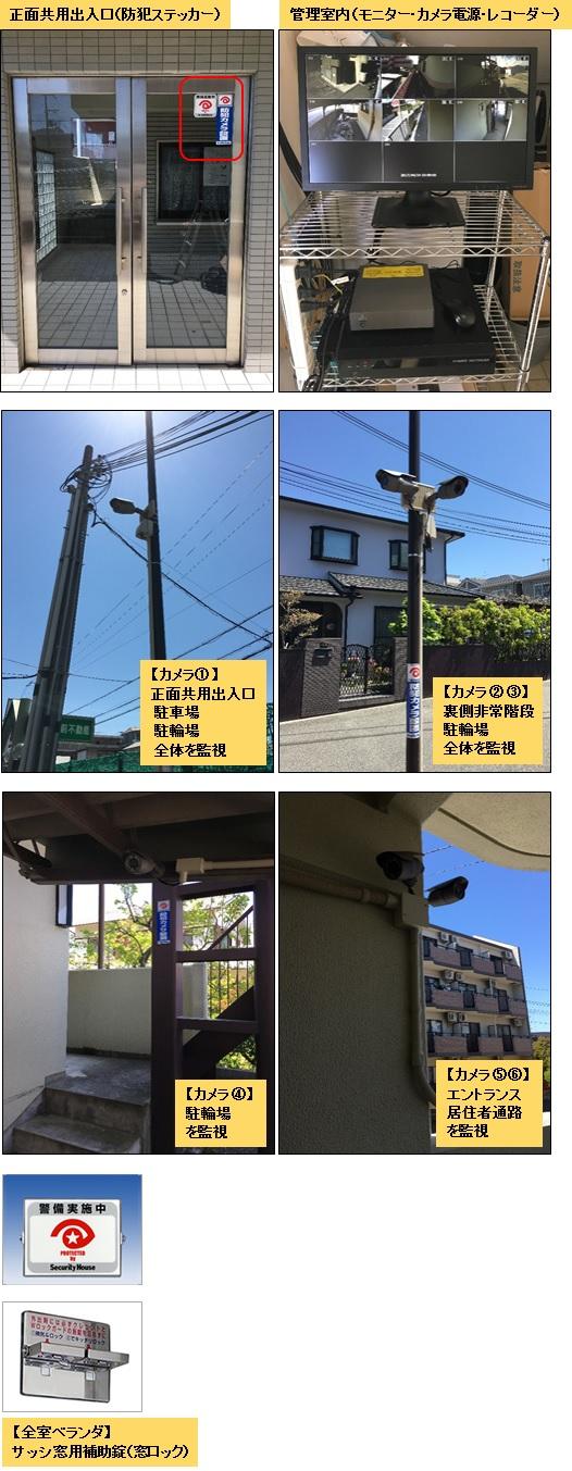 ブランベール有瀬・防犯カメラ